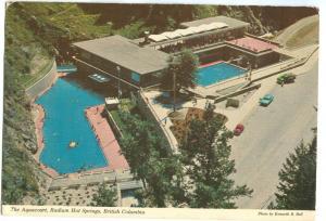 Canada, The Aquacourt, Radium Hot Springs, British Columbia, used Postcard