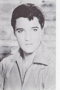 Black & White Portrait of Early Elvis 1960s