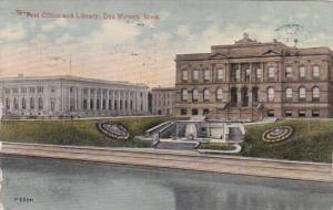 Iowa Des Moines Post Office and Library 1914