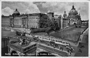 Berlin Schloss Dom Denkmal Grossen Kurfusten Monument Bridge Cars Postcard