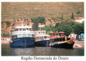 Portugal cais fluvial do Pinhao sailing vessels ships boats