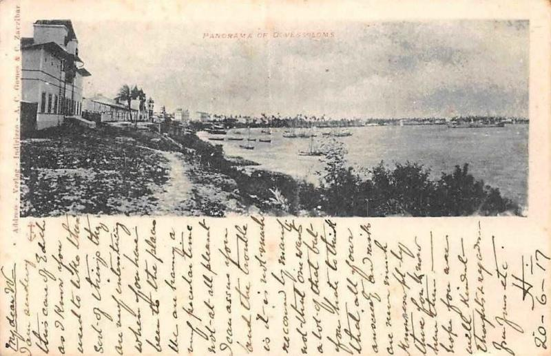 German East Africa, Tanzanie Panorama de Dovessoloms Zanzibar Tanzania 1917