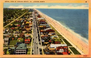 Virginia Virginia Beach Aerial View Looking North 1950