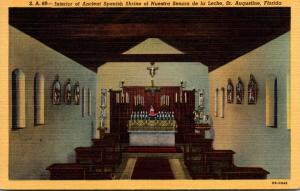 Florida St Augustine Interior Of Ancient Spanish Shrine Of Nuestra Senora De ...