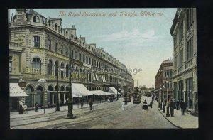 TQ3356 - Somerset - The Royal Promenade & Triangle Clevedon - postcard