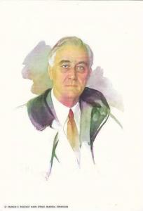 Original Unfinished Portrait of President Franklin Delano Roosevelt by Elizab...