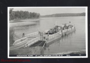 RPPC LAKE NORFORK ARKANSAS HENDERSON CAR FERRY VITNAGE REAL PHOTO POSTCARD