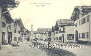 Oberer Markt Mittenwald Germany Unused