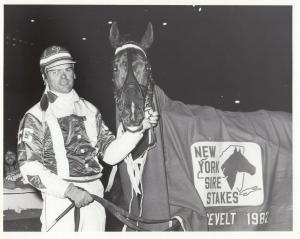 YONKERS Raceway Harness Horse Race , Lori Song Kash, Winners Circle, 1982