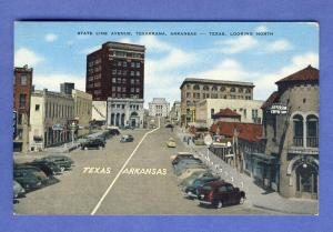 Texarkana, Arkansas/AR Postcard, State Line Ave, Texas/TX