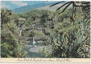 Seven Pools of Kipahulu near Hana, Island of Maui, 1982 used Postcard