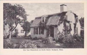 Massachusetts Rockport Old Tarr Homestead On South Street Albertype