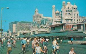 New Jersey Atlantic City Bicycling On The Boardwalk