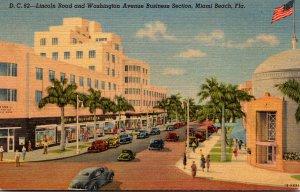 Florida Miami Beach Lincoln Road and Washington Avenue Business Section Curteich