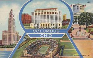Ohio Columbus Greetings With Multi View Curteich