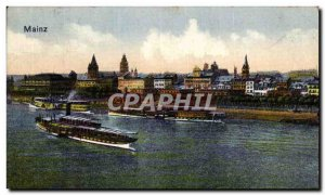 Old Postcard Mainz Boat