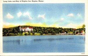 Maine Naples Long Lake and Bay Of Naples Inn 1940