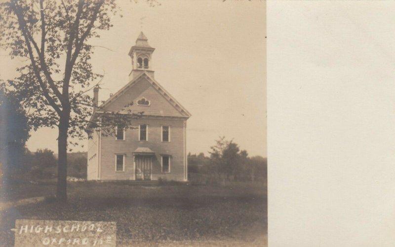 RP; OXFORD , Maine , 1901-07 ; High School