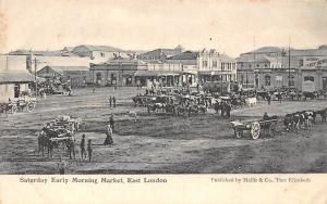 South Africa East London, Saturday Early Morning Market , Scotch Stores, Carts