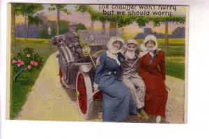 Auto, The Chauffer, Man with Two Women, BS, Made in USA