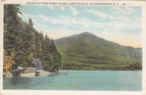 Whiteface from Moose Island, Lake Placid in the Adirondacks, New York, PU-1926