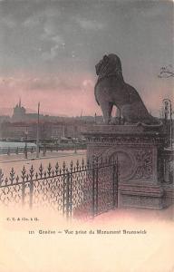 Switzerland Postcard Geneve Vue Prise de Monument Brunswick