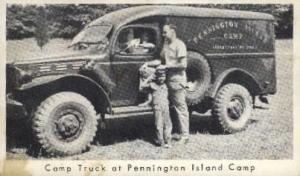Camp Truck  Pennington Island Camp PA 1954