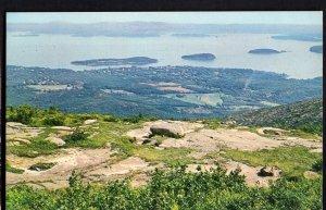 42420) Maine BAR HARBOR from Summitt of Mt Cadillac - Chrome