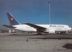 BRAVO AIRLINES / LAC, Boeing-767-219 ER, unused Postcard