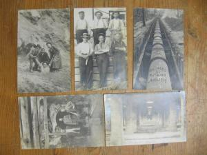 Pipe Layers Labor Workers Chicago 1909 on Back ORCHARD ST. Lot of 5 RPPCs