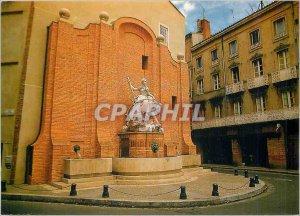 Postcard Modern Art Toulouse City Fontaione the street Boulbonne