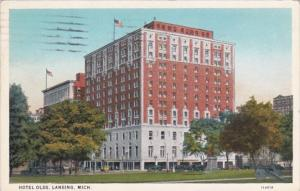 Michigan Lansing Hotel Olds Curteich 1929