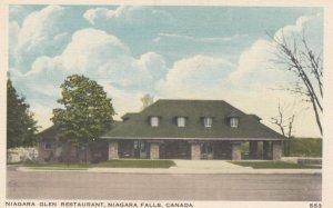 NIAGARA FALLs , Ontario , Canada , 1930s ; Glen Restaurant