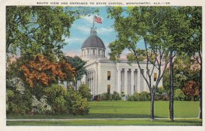 MONTGOMERY, Alabama , 30-40s ; South View and Entrance to State Capitol