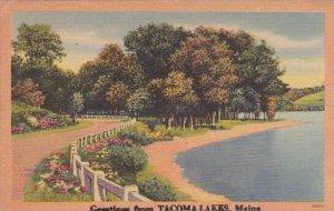 Maine Tacoma Lakes Greetings From Tacoma Lakes 1953