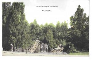 Paris France Bois de Boulogne La Cascade Vintage Postcard