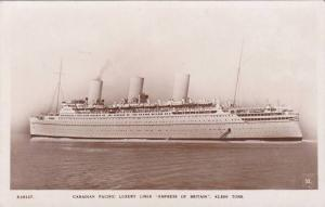 RP, Oceanliner/Steamer/Ship, Canadian Pacific Luxury Liner Empress Of Britai...