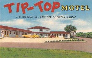 Eureka Kansas Tip-Top Motel Vintage Postcard JI658007