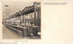 F81/ Los Angeles California Postcard c10 Fosgate Rees Soda Fountain Interior 2