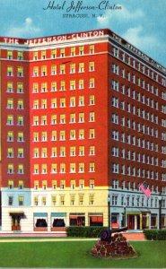 New York Syracuse Hotel Jefferson Clinton 1946