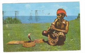 Ceylon : Snake Charmer , PU-1960 ; PENTOTHAL Ad on back