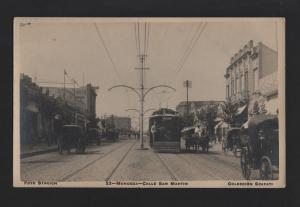 ARGENTINA MENDOZA CALLE SAN MARTIN 1910s tramcar tramway tram train Z1