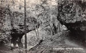 D26/ Fort Hill Ohio Photo RPPC Postcard Native Indian Mounds Limestone Gorge 2