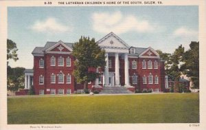 Virginia Salem The Lutheran Childrens Home Of The South