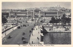 Vintage Postcard PARIS Concord Place, France No.20 #P