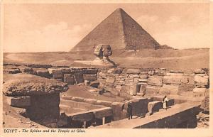 Egypt, Egypte, Africa Sphinx and the Temple at Giza  Sphinx and the Temple at...