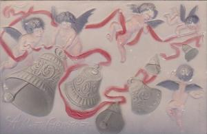 Christmas Young Angels Ringing Bells 1908