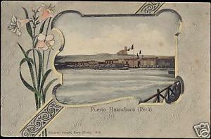 peru, HUANCHACO, Puerto Harbour Horbor (ca. 1899)