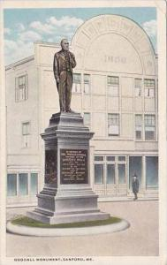 Maine Sanford Gooddall Monument 1918