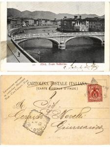 CPA PISA Ponte Solferino . ITALY (467424)